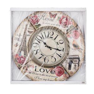 Купить Часы Арти М 799-160 Paris 60*6*60 см цвет бежевый/розовый