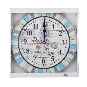 Купить Часы Арти М 799-173 Beach 34*34*4,5 см цвет бирюза/бежевый