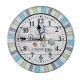 Часы Арти М 799-173 Beach 34*34*4,5 см цвет бирюза/бежевый