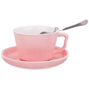 Купить Кофейная пара Арти М 495-1058 (3 предмета) 200 мл цвет розовый