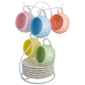 Купить Чайный набор Арти М 374-036 на 6 персон (12 предметов) 200 мл цвет мультиколор