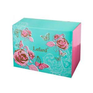 Купить Столовый набор Арти М 115-269 на 6 персон (25 предметов) цвет белый/розовый