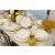 Столовый набор Арти М 115-281 на 6 персон (25 предметов) белый/золотой
