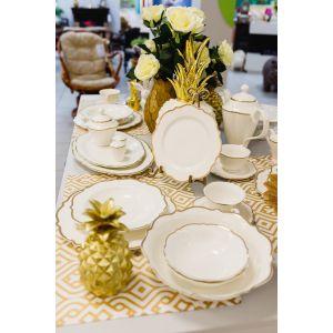 Купить Столовый набор Арти М 115-281 на 6 персон (25 предметов) цвет белый/золотой