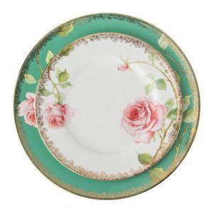 Купить Столовый набор Арти М 22-1046 Амелия на 6 персон (24 предмета) цвет белый/розовый/зелёный