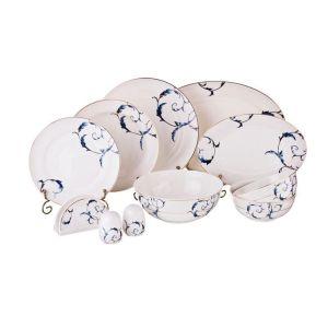 Купить Столовый набор Арти М 264-782 на 6 персон (26 предметов) цвет белый/синий