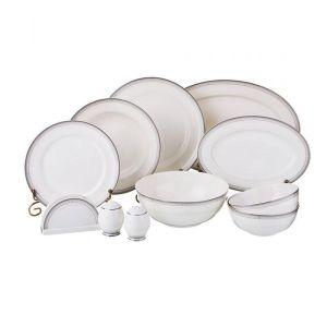 Купить Столовый набор Арти М 264-845 Грэй на 6 персон (26 предметов) цвет белый/серый