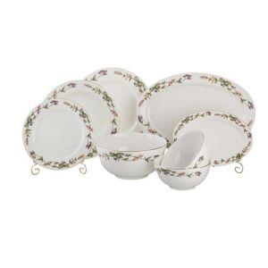 Купить Столовый набор Арти М 440-001 Английский сад на 6 персон (23 предмета) цвет белый/зелёный