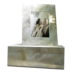 Купить Шкатулка Русские подарки 79234 26*18*10 см цвет белый/золотой