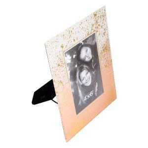 Купить Фоторамка Русские подарки 79223 18*2*23 см для 10*15 см цвет розовый/золото