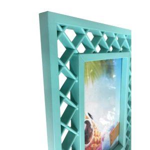 Купить Фоторамка Феникс-Презент 79698 17,3*22,3*1,3 см Голубые ромбики цвет бирюзовый
