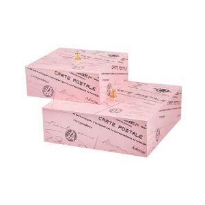 Купить Набор шкатулок Русские подарки 238331 (2 шт.) 24*24*8 см цвет розовый/серый