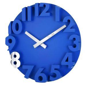 Купить Настенные часы Анкона 4032DB Tomas Stern 34*34*3,5 см цвет синий