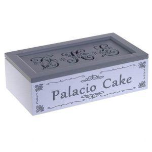 Купить Шкатулка РЕМЕКО 262175 24*13*7 см цвет белый/серый