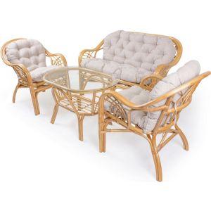 Купить Комплект мебели Мебель Импэкс Roma ( 2 кресла + диван + стол) цвет мёд