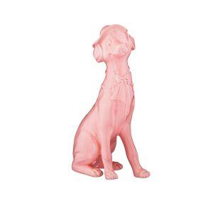 Купить Статуэтка Арти М 101-1122 Собака 35,5 см цвет розовый