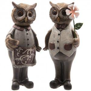 Купить Статуэтка РЕМЕКО 266258 Сова 7*7*17 см (2 варианта) цвет коричневый