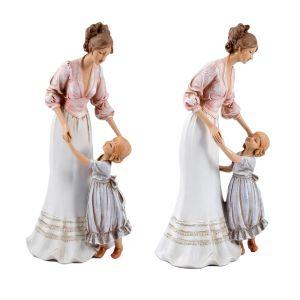 Купить Статуэтка Русские подарки 27660 Материнская нежность 15*12*30 см цвет белый/розовый