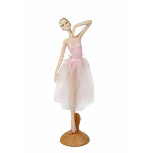 Купить Статуэтка Русские подарки 27670 Балерина 9*7*29 см цвет белый/розовый