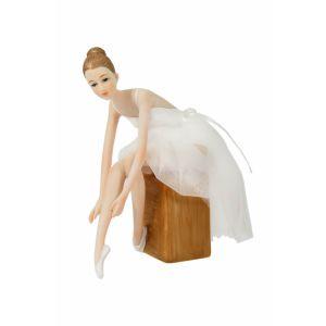 Купить Статуэтка Русские подарки 27671 Прима 12*6*17 см цвет белый/бежевый