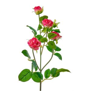 Купить Цветок искусственный MYBLUMM 0116 Роза кустовая цвет фуксия