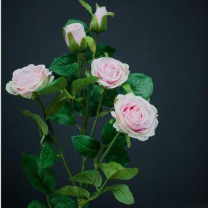 Купить Цветок искусственный MYBLUMM 0208 Роза кустовая цвет розовый
