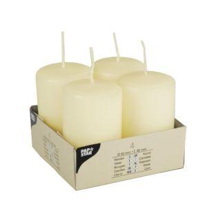 Купить Набор свечей Европак Трейд 15361 50*80 мм (4 шт.) Ivory цвет кремовый