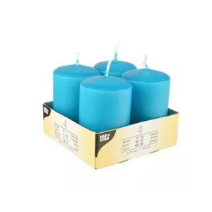 Купить Набор свечей Европак Трейд 81772 80*50 мм (4 шт.) цвет бирюзовый
