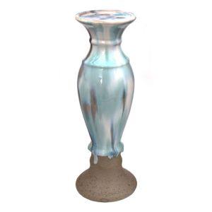 Купить Подсвечник РЕМЕКО 270174 10*10*30 см цвет голубой/бежевый