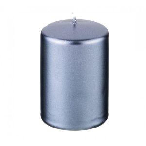 Купить Свеча Арти М 348-601 9/5,8 см цвет серо-голубой металлик