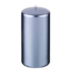 Купить Свеча Арти М 348-609 12/5,8 см цвет серо-голубой металлик