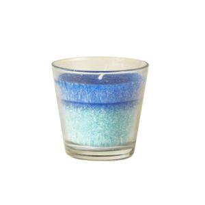 Купить Свеча Европак Трейд 85446 в стекле 77*73 мм Морской бриз цвет бирюза/синий