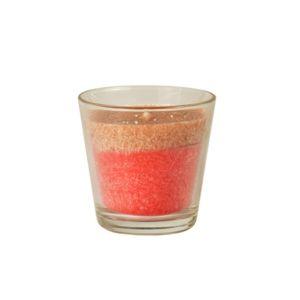 Купить Свеча Европак Трейд 85448 в стекле 77*73 мм Вишневый амаретто цвет коралловый