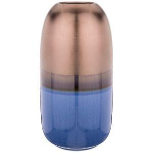 Купить Ваза Арти М 146-1031 14,5*14,5*28,5 см цвет синий/бронза