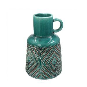Купить Ваза РЕМЕКО 724880 21 см цвет зелёный