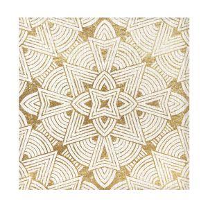 Купить Набор салфеток Праймтекс ВН ХП НПК121 Mamba 1 31 цвет белый/золотой