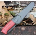 Нож MORA Basic 511 с чехлом цвет бордовый