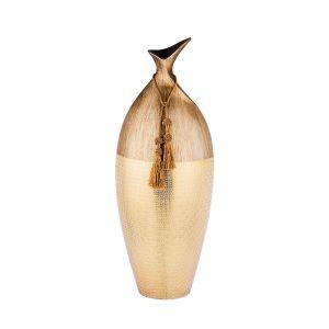 Купить Ваза Арти М 114-399 Золотой песок 24*18*64 см цвет дерево/золотой