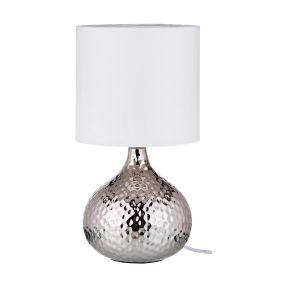 Купить Настольный светильник Арти М 134-160 с абажуром Ницца 35*19 см цвет серебро