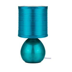 Купить Настольный светильник Арти М 134-163 с абажуром 23,5*12,5 см цвет бирюзовый