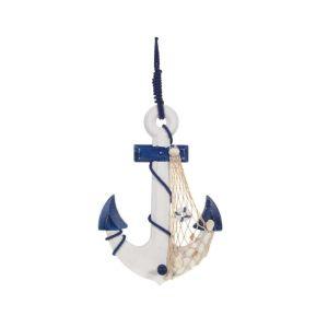 Купить Панно РЕМЕКО 726159 Якорь 22*4*33 см (2 варианта) цвет белый/синий