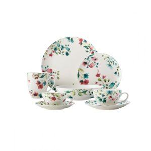 Купить Чайная пара Анна Лафарг Primavera 0,25 л цвет белый/розовый/бирюзовый