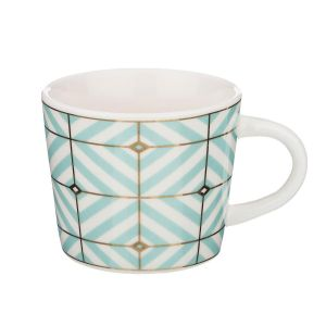 Купить Чайный набор Арти М 155-231 (6 шт.) на металлической подставке Ромбы 240 мл цвет мультиколор