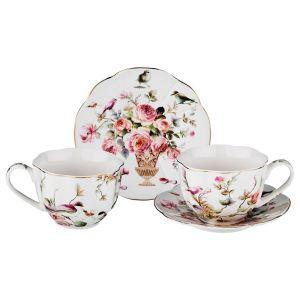 Купить Чайный набор Арти М 275-991 на 2 персоны (4 предмета) Нега 250 мл цвет мультиколор