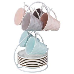 Купить Чайный набор Арти М 374-041 на 6 персон (12 предметов) 200 мл цвет мультиколор