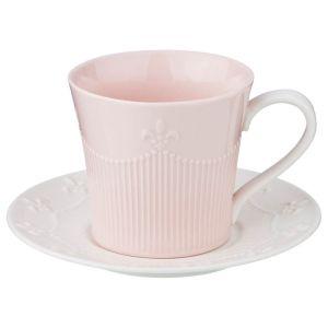 Купить Чайный набор Арти М 374-050 на 6 персон (15 предметов) цвет серый/розовый