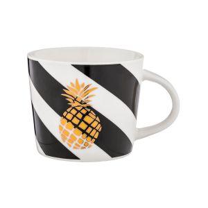 Купить Чайный набор Арти М 756-202 (4 шт.) цвет белый/чёрный/золото