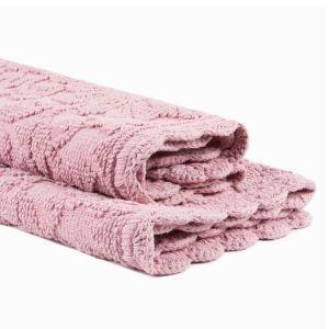 Купить Коврик АРИЯ Andy 60*90 с гипюром цвет розовый