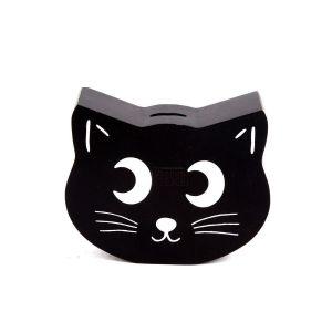 Купить Копилка Русские подарки 138836 Котик 18*15*5 см цвет чёрный/белый