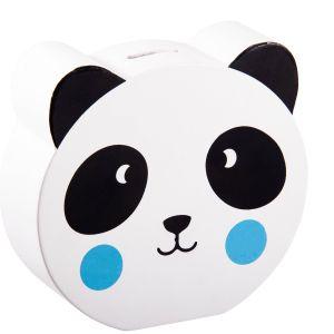 Купить Копилка Русские подарки 138837 Панда 16*15*5 см цвет белый/черный
